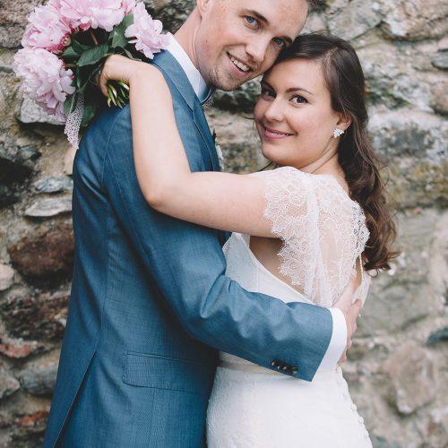 ROMANTIQUE MARIAGE BLEU MARINE ET ROSE AU CHÂTEAU DE BOGIS - BOSSEY - SILVIA + THOMAS