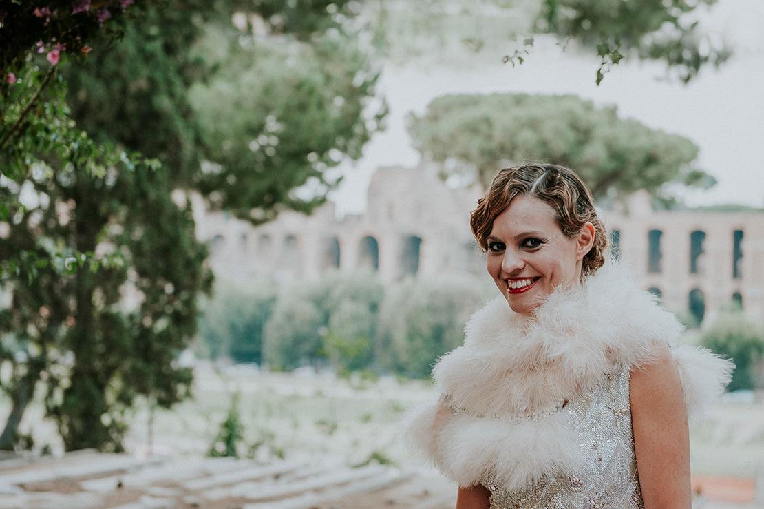 élégant mariage à Rome