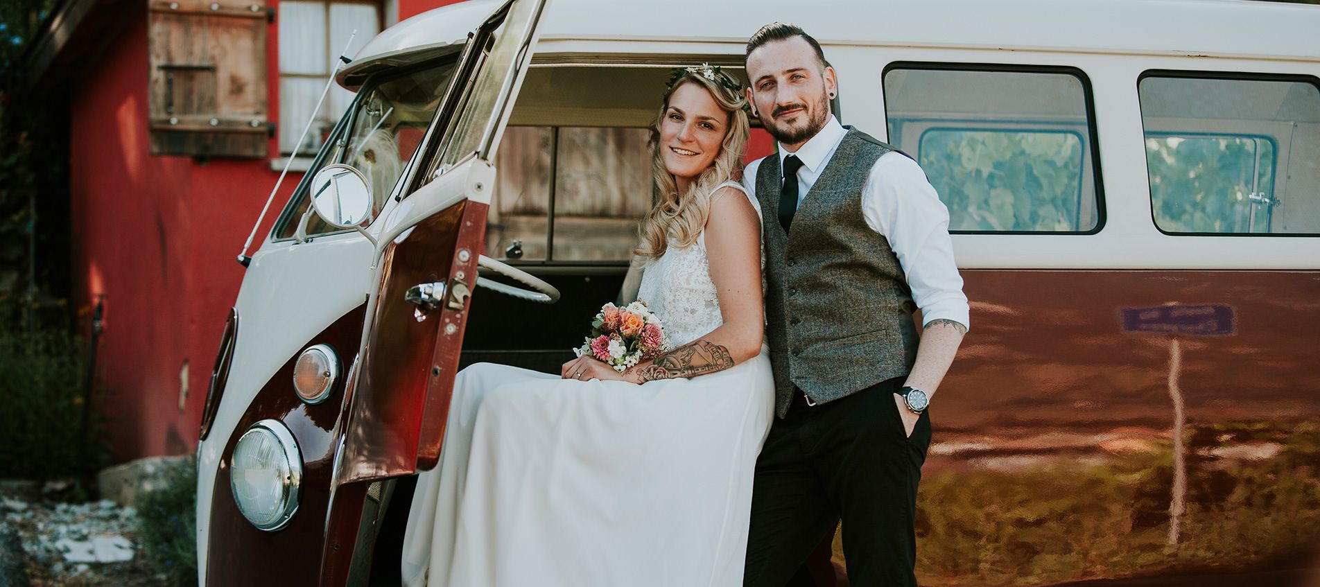 photographe mariage vintage suisse vw bus martigny