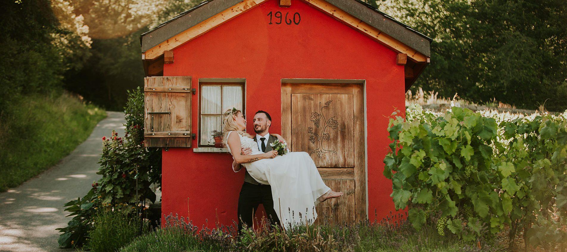 photographe mariage valais les vignes robe mariage champêtre